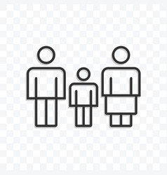 family speech bubble icon on transparent vector image