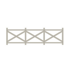 farm wooden fence vector image