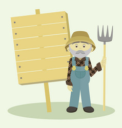 Farmer isolated vector