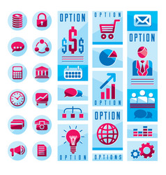 flat infographics elements set of different vector image