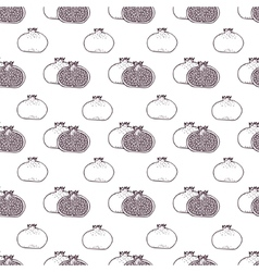 Garnet fruits seamless pattern vector image
