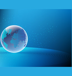 Global world map cyber wireless internet line vector