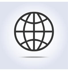 Globe simple icon gray colors vector