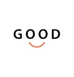 Good smile template design vector