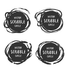 hand drawn scribble labels with text set vector image