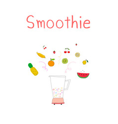 hand drawn smoothies background vector image