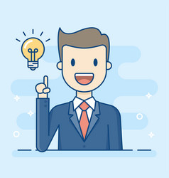happy businessman having a good idea vector image