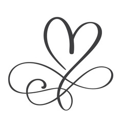 Heart love sign forever infinity romantic symbol vector