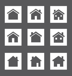 home signs set houses icons real estate vector image