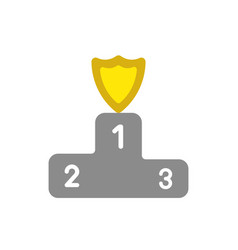 icon concept of guard shield on firstplace of vector image