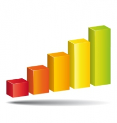 increase diagram vector image