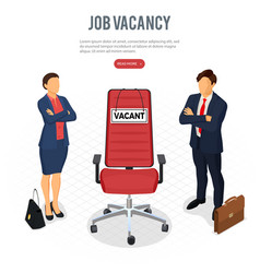 Isometric employment and hiring concept vector