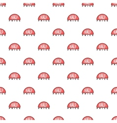 Label half price pattern cartoon style vector