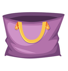 Large purple tote bag vector