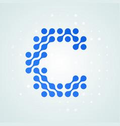 letter c logo halftone icon vector image