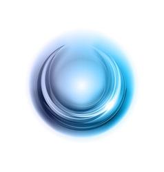 light round center blue vector image