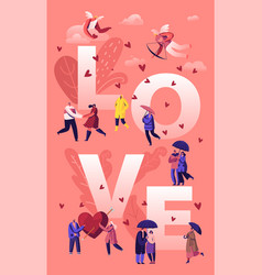 love and loving relations concept cheerful men vector image