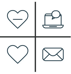 Network icons set collection of message delete vector