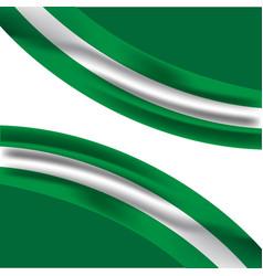 Nigeria flag template design vector