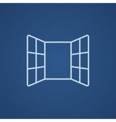 Open windows line icon vector image
