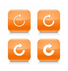 Orange icon refresh reload rotation repeat sign vector