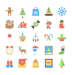 pack of flat christmas vector image