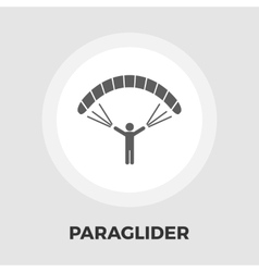 Paraglider icon flat vector