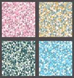 Patterns set Retro vector image