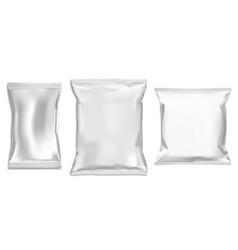 plastic bag mock up foil snack pack food packet vector image