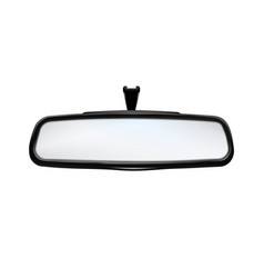 Rearview mirror car traffic safety tool vector