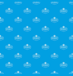 research biology pattern seamless blue vector image