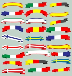 Ribbons and banners of europe vector