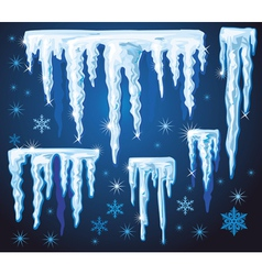 Set icicles for design vector