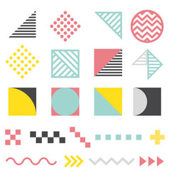 set modern abstract design elements vector image