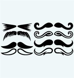 Set mustache vector image