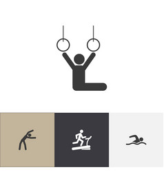 set of 4 editable training icons includes symbols vector image