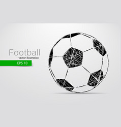 silhouette of a soccer ball vector image