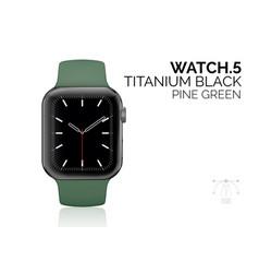 Smart watch with pine green bracelet realistic vector