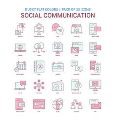 social communication icon dusky flat color vector image