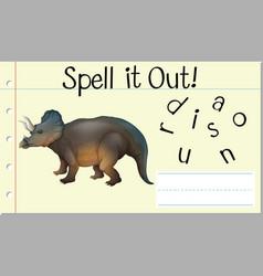 Spell it out dinosaur vector