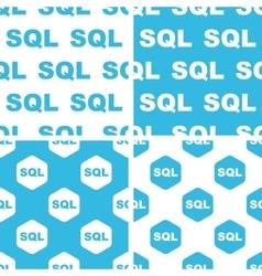SQL patterns set vector image