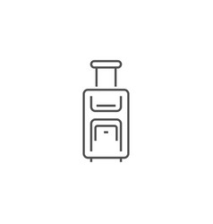 suitcase related line icon vector image
