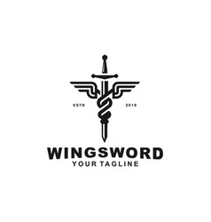 Sword logo design template idea vector