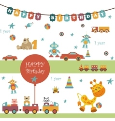 Toys icons on white background vector