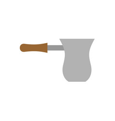 Turk coffee isolated utensils for cooking drink vector