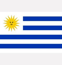 Uruguayan flag vector