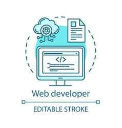 Web developer concept icon vector