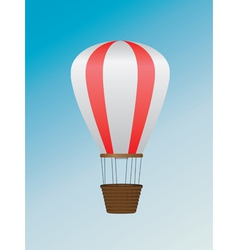 White red air balloon vector image