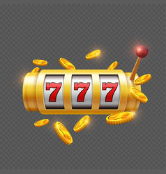 winner gambling with slot machine vector image