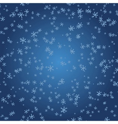 Winter pattern Snowflakes on blue gradient vector image